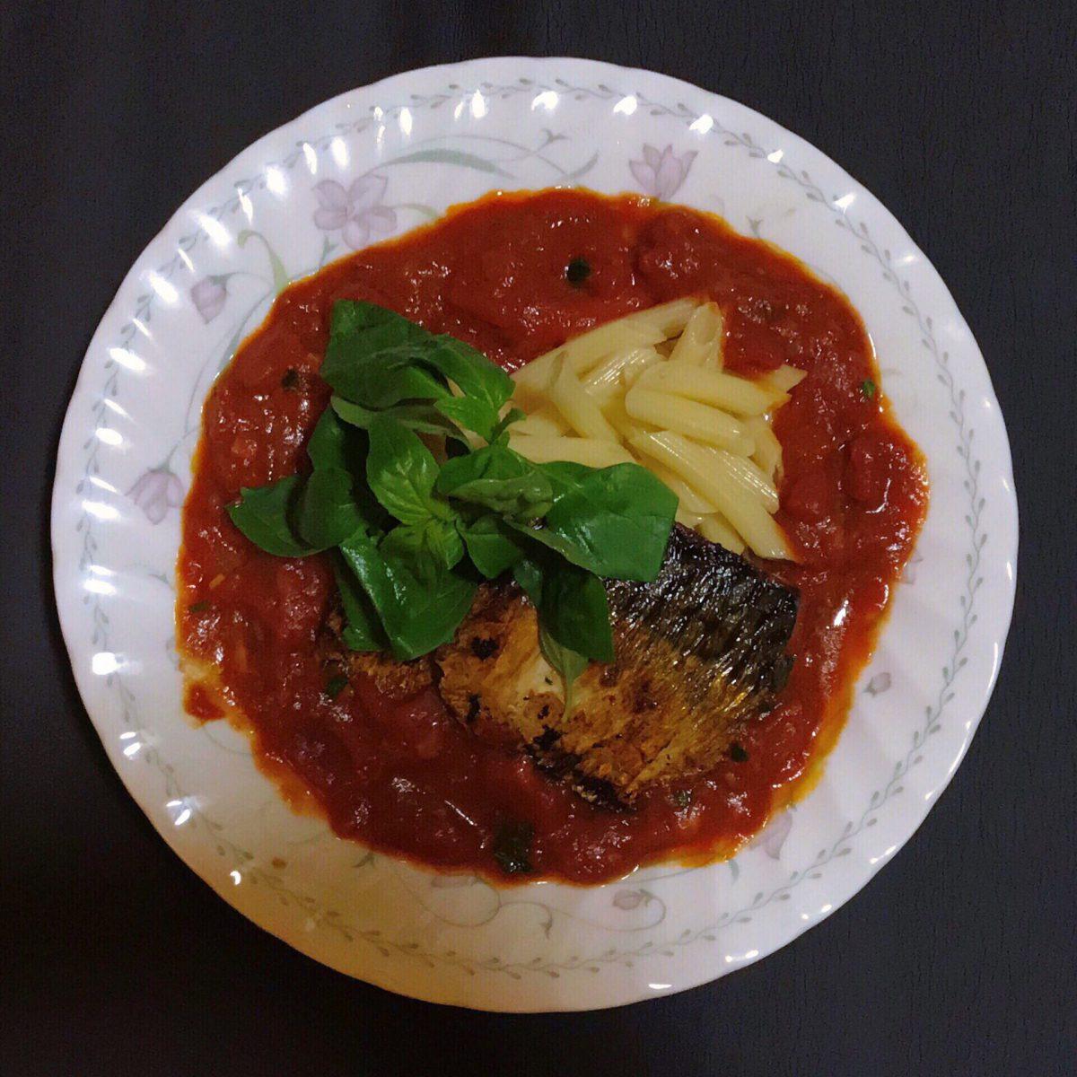 鯖のイタリアンプレート