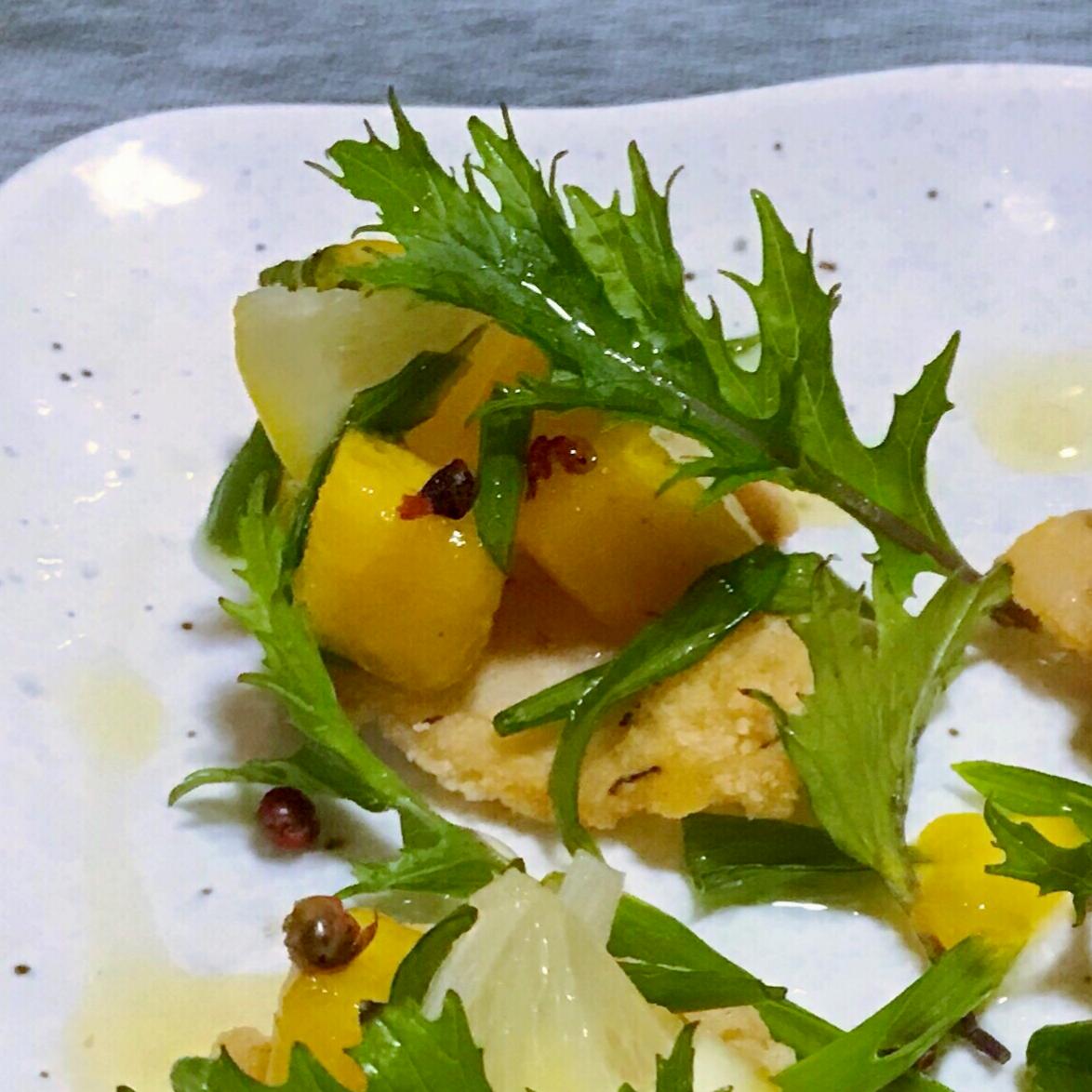 柿のレモンマリネ