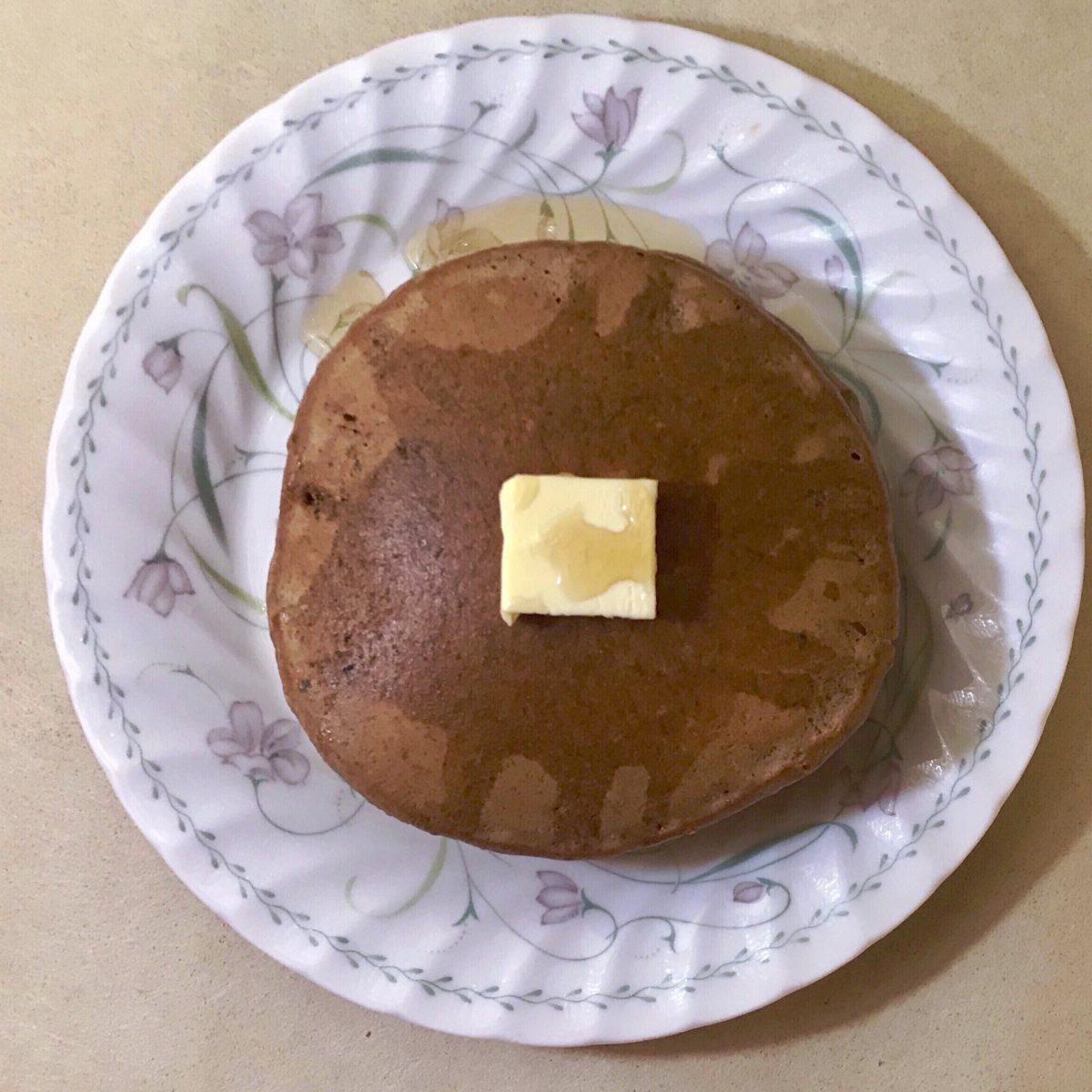 ビターなチョコレートパンケーキ