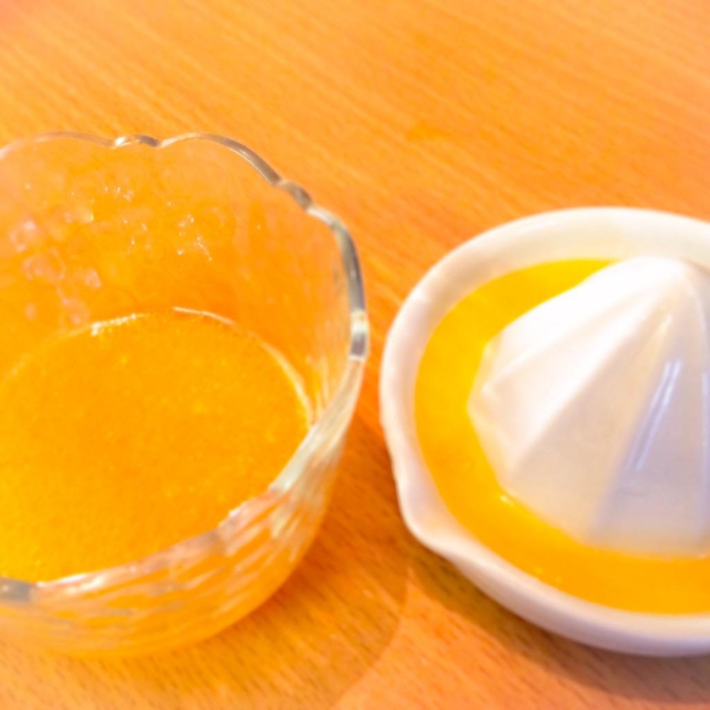 オレンジ果汁のドレッシング