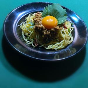 バター風味の納豆スパゲティー